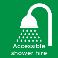 Wheelchair accessible shower units for hire