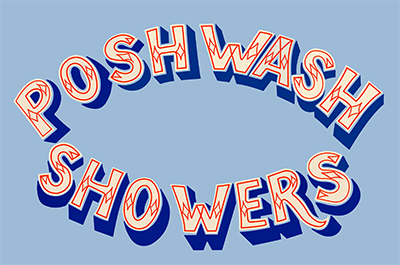 Posh Wash Showers logo